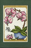 view Pink Orchid Cross-Stitch digital asset number 1