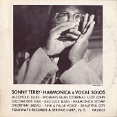 view Sonny Terry [sound recording] : harmonica and vocal solos / recorded by Moses Asch digital asset number 1