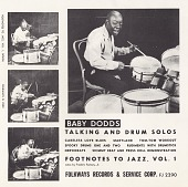 view Footnotes to jazz Vol. 1 : Baby Dodds talking and drum solos. [sound recording] digital asset number 1
