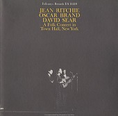view Jean Ritchie, Oscar Brand, and Dave Sear : A Folk Concert in Town Hall, New York [sound recording] / presented by Alan Patricof digital asset number 1