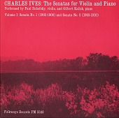 view The sonatas for violin and piano. Vol. 1 [sound recording] : Sonata No. 1 (1903-1908) and Sonata No. 2 (1903-1910) / performed by Paul Zukofsky and Gilbert Kalish digital asset number 1
