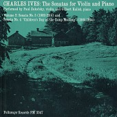 "view The sonatas for violin and piano. Vol. 2 [sound recording] : Sonata No. 3 (1902-1914) and Sonata No. 4 ""Children's Day at the Camp Meeting"" (1905-1914) / performed by Paul Zukofsky and Gilbert Kalish digital asset number 1"