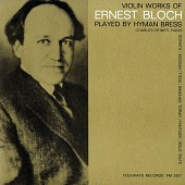 view Violin works of Ernest Bloch [sound recording] / played by Hyman Bress digital asset number 1