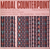 view Modal counterpoint in the style of the 16th century [sound recording] / prepared by Vaclav Nelhybel digital asset number 1