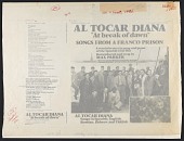 view Al Tocar Diana / At break of dawn [sound recording] : songs from a Franco prison / remembered and sung by Max Parker digital asset number 1