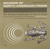 view Sounds of North American frogs [sound recording] : the biological significance of voice in frogs / narrated by Charles M. Bogert digital asset number 1