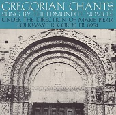 view Gregorian chants [sound recording] / sung by the Edmundite Novices ; under the direction of Marie Pierik digital asset number 1