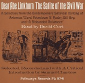 view Dear Abe Linkhorn [sound recording] : the satire of the Civil War / read by David Cort ; selected, recorded and with a critical introduction by Samuel Charters digital asset number 1