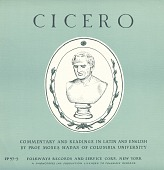 view Cicero [sound recording] : commentary and readings in Latin and English / by Moses Hadas digital asset number 1