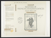 view Masters of French Canadian Music [sound recording] / Joseph Allard, violin ; selected and annotated by Gabriel Labbé ; produced by Richard Carlin digital asset number 1