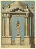 view Design for a Pavilion, with a Statue in the Egyptian Style digital asset number 1