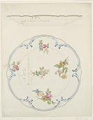 view Design for a Painted Porcelain Tray digital asset number 1