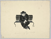 view Man Seated on Park Bench digital asset number 1