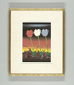 view Three Tulips, Design for American Silk Mills Advertisement digital asset number 1
