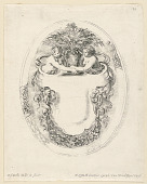 view Design for an Escutcheon in Form of Sailboat, in Recueil Noveau de Differens Cartouches digital asset number 1