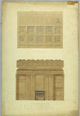 view Ceiling Plan and Elevation (North Wall) of Conference Room, United States Supreme Court Building, Washington, D.C. digital asset number 1