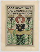 "view Design for Title Page, ""Occupations of Women and Their Compensation"" digital asset number 1"