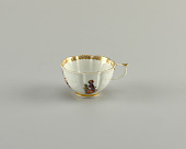 view Chocolate Cup and Saucer with Raised Gotzkowsky Flower Pattern digital asset number 1