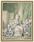 view Mother and Two Children in a Boudoir digital asset number 1