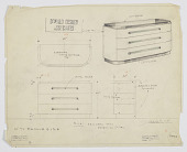 view Design for Chest off Drawers, Abby Greene Aldrich Rockefeller Apartment, 10 West 54th Street, New York, NY digital asset number 1