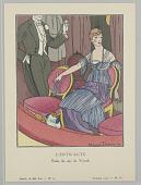 view Gazette du Bon Ton (Journal of Good Taste), Vol. 1, No. 12, L'Entr'acte (Between the Acts), Plate 6 digital asset number 1