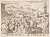 view Whale Hunt by the Emperor Claudius in the harbour at Ostia, pl. 19 in the Venationes Ferarum, Avium, Piscium series digital asset number 1