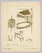 view Gazette du Bon Ton, Vol. 2, No. 9, pages de Croquis, Plate 43 digital asset number 1