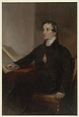 """view Study for """"The Reverend Thomas Stockton,"""" San Francisco Museum of Fine Arts, San Francisco, CA digital asset number 1"""