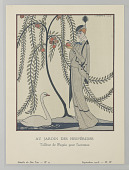 view Plate 4, Au Jardin des Hespérides (In the Garden of the Hesperides), Gazette du Bon Ton (Journal of Good Taste), Vol. 1, No. 11 digital asset number 1