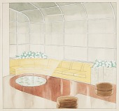 view Design for Sunroom, Leigh B. Block Apartment, 3100 North Sheridan Road, Chicago, IL digital asset number 1