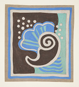 view Bathroom Mat Design with Sea Motif for Abby Aldrich Greene Rockefeller Apartment, 10 West 54th Street, New York, NY digital asset number 1