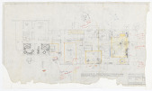 view Design for First Floor, Room Plans and Furniture Layout, Harold S. Anderson House, 737 Sarbonne Road, Bel Air, CA digital asset number 1
