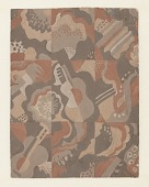 view Carpet Design: Still Life with Musical Instruments, Radio City Music Hall, New York, NY digital asset number 1