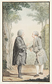 view Two Gentleman Conversing in a Park digital asset number 1
