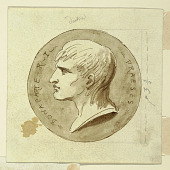 view A Medal of Napoleon Bonaparte as President of the Italian Republic, verso; Hebe Gives Immortality to Hercules's Charioteer digital asset number 1