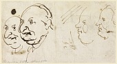 view Sketches of Four Heads in Caricature digital asset number 1