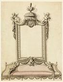 view Design for Sofa and Mirror, Portrait Room, Royal Palace; Warsaw, Poland digital asset number 1