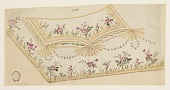 """view Design no. 948 for the Embroidery of a Man's Waistcoat of the """"Fabrique de St. Ruf"""" digital asset number 1"""