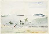 view Landscape with Deer in Morning Haze digital asset number 1