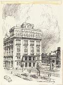view Cooper Union, Illustration for New York Central's University Dining Car Menu Series digital asset number 1
