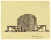 view End View of Proposed Design for the First Lutheran Church, Boston, Massachusetts digital asset number 1