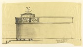 view Sketch of Second Alternate Design for Side Elevation of Proposed First Lutheran Church, Boston, Massachusetts digital asset number 1