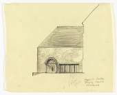 view Entrance Elevation of the Exterior of a Proposed Chapel for Trinity Church, Boston, Massachusetts digital asset number 1