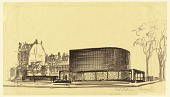 view Proposed Design for the First Lutheran Church, Boston, Massachusetts digital asset number 1