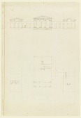 view Elevation and Plan of a Country House digital asset number 1