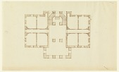 view Plan of the Ground Floor of a Country House digital asset number 1