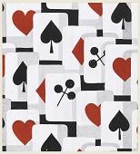 view Playing Card Motif, Textile Design digital asset number 1