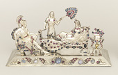 view Jeweled Sculpture of Antony, Cleopatra, and Attendant digital asset number 1