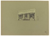 view Design for an Art Deco Storefront with Two Deep Entrances digital asset number 1