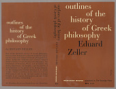"view Bookjacket for ""Outlines of the History of Greek Philosophy"" by Edward Zeller, Meridian Books digital asset number 1"